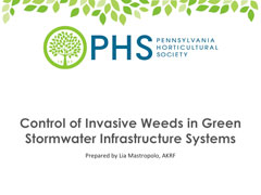 Control of Invasive Weeds